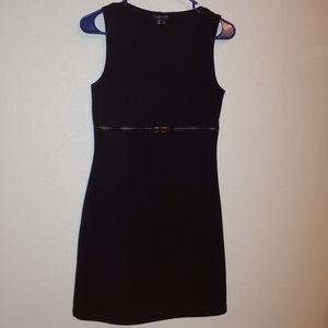 My Michelle faux Belted little black dress size sm